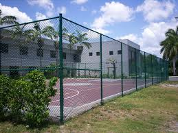 Tennis Court Fence 10 Ft High Chain Link Black Green Chain Link Fence Installation Fence Installation Cost Chain Link Fence