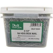 grip rite hot galvanized box nail 8d