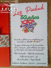 Frases Para Invitaciones 50 Anos Cumpleanos Centro De Salud