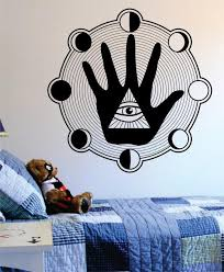 All Seeing Eye Hand Moon Phases Illuminati Design Decal Sticker Wall V Boop Decals