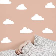 Small Clouds Vinyl Wall Decal Bedroom Peel And Stick Wall Art Shapes Wallternatives