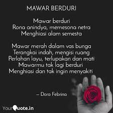 mawar berduri mawar berd quotes writings by dora febrina
