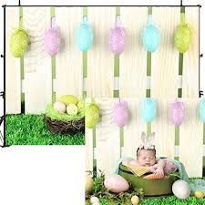Dobeans Spring Easter Backdrop For Photography 9x6ft Colorful Eggs Wooden Fence Green Grass Easter Day Photo Backdrop Easter Party Decorations Photography Background Pet Baby Adult Photo Studio Props Shefinds
