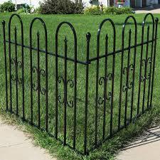 Sunnydaze 2 Piece Decorative Finial Border Fence
