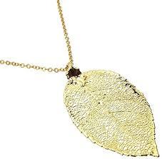 rose leaf pendant necklace 24k gold