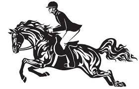 Paard Rijden Vectoren Illustraties En Clipart 123rf