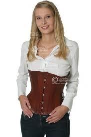 corset light brown leather underbust