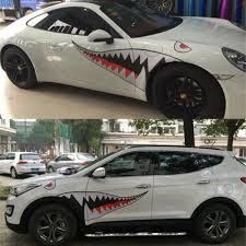 2020 Full Size Diy Shark Mouth Tooth Teeth Flying Tiger Die Cut Waterproof Vinyl Decal Sticker Car Styling 150 50cm From Suozhi1991 20 31 Dhgate Com