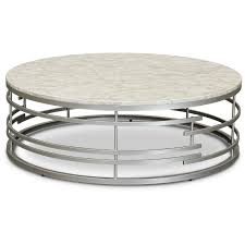 round marble and silver large coffee