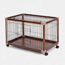 Amazon Com C L Chun Li Pet Cage Dog Cage Indoor Small And Medium Dog Wooden Fence Anti Jail Movement Pet Crate Color Brown Pet Supplies