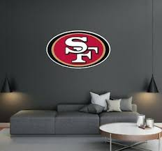 San Francisco 49ers Logo Wall Decal Removable Reusable For Home Decoration Ebay
