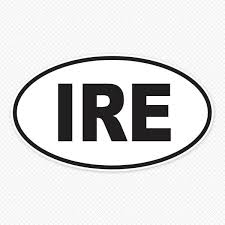Ire Oval Car Decal Brits R U S