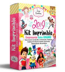 Kit Imprimible 2019 Invitaciones Cajitas Etiquetas Curso