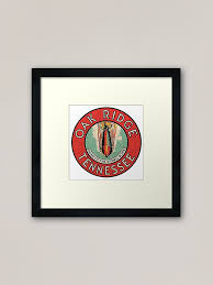 Oak Ridge Tennessee Home Of The Atomic Bomb Vintage Decal Framed Art Print By Midcenturydave Redbubble