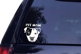 Amazon Com Tshirt Rocket Pit Mom Pitbull Dog Vinyl Car Decal Laptop Decal Car Wall Sticker Boat 6 White Automotive