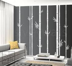 Bamboo Wall Decal Bamboo Tree Wall Decal 100inch Tall Set Of Etsy