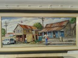 Main St., Black River Painting by Webster Campbell | Artmajeur