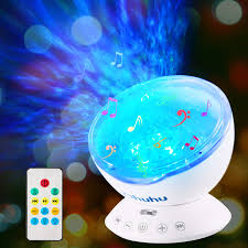 Ocean Wave Projector Ohuhu Night Light Projector 12 Led 7 Colors Changing Night Light For Kids Undersea Projector Lamp For Christmas Gifts Kids Bedroom Living Room Decoration