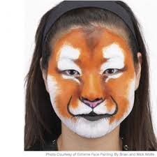 easy tiger face painting design paing