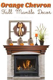 fireplace mantel ideas orange chevron
