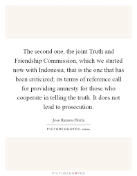 the second one the joint truth and friendship commission which