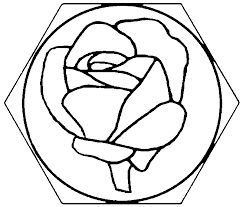 rose roses stained glass mosaic