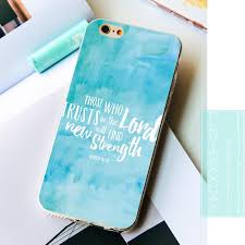 fundas watercolor christian quotes soft silicone phone cases for