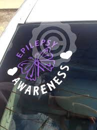 You Choose Text Purple Ribbon Circle Butterfly Window Decal Options For Lupus Craniosynostosis Ep Window Decals Purple Ribbon Epilepsy Awareness