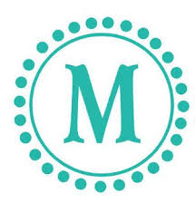 Circle Monogram Decal Letter With Polka Dots For By Householdwords 35 00 Initials Decal Monogram Wall Decals Name Wall Decals