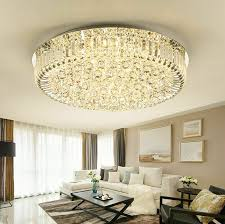 light 3 color led crystal ceiling lamp