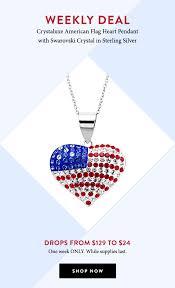 american flag heart pendant now 24