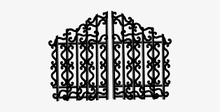 Fence Door Barricade Entrance Gate Iron Po Gate Clipart Png Black And White Png Image Transparent Png Free Download On Seekpng