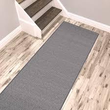 kapaqua solid grey runner rug non slip