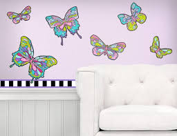 Butterfly Wall Art Peel And Stick Wall Decals With Borders Etsy
