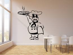 Vinyl Wall Decal Pizza Italian Restaurant Chef Kitchen Cooking Food St Wallstickers4you