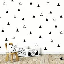 Amazon Com Adhesive Black Tribal Triangles For Kids Baby Bedroom Decoration Wall Vinyl Sticker Decal Decor Nursery Arts Crafts Sewing