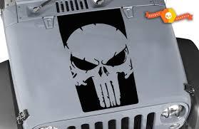 Product Jeep Wrangler The Punisher 3 Vinyl Hood Decal Lj Tj Jk Jku