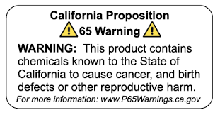 California Prop 65 Warning Labels – The Decal Bros