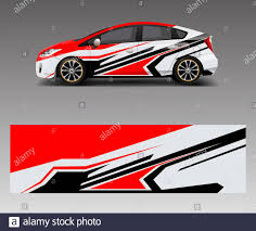 Car Decal Vector Graphic Abstract Racing Designs For Vehicle Sticker Vinyl Wrap Stock Vector Image Art Alamy