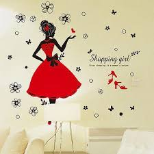 Girl Wall Stickers Home Decorative Wall Decals For Living Room Bedroom Bathroom Vinyl Wall Lettering Vinyl Wall Murals From Chairdesk 4 42 Dhgate Com