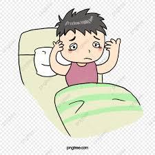 كرتون قلة النوم سرير شخصيات كرتونية كاريكاتير Png وملف Psd
