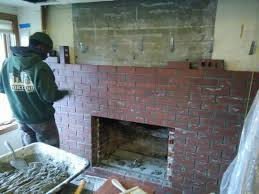 chimney rebuild and fireplace remodel