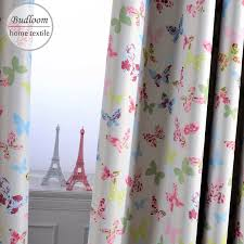 Pink Blue Butterfly Blackout Curtains For Children Baby Room Colorful Curtains For Girl S Room Window Drapes For Kindergarden Curtains For Butterfly Blackout Curtainsblackout Curtains Aliexpress