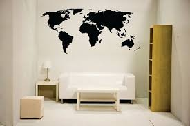 Newclew Nc Mp 1 World Map Wall Decal Vin Buy Online In Mongolia At Desertcart