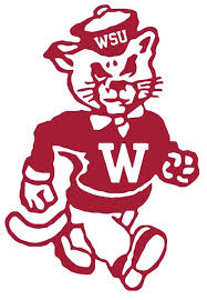 Ncaa0438 Washington State Cougars Mascot Die Cut Vinyl Graphic Decal Sticker