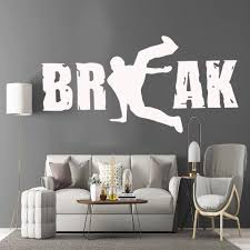 Cartoon Break Wall Stickers Personalized Creative Living Room Mural Children Room Wall Decals Decorative Vinyl Adesivi Murali Wall Stickers Aliexpress