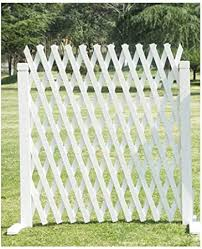 Lixiong Garden Fence Outdoor Decorative Expanding Fence Animal Barrier Wooden Privacy Screen For Patio Plants Growing 2 Colour 4 Size Color White Size 85x160cm Amazon Co Uk Kitchen Home