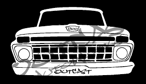 Outcast Autoworks 1965 Ford F 100 Vinyl Decal Outcastautoworks
