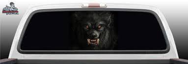 Werewolf Wolf Glass Rear Window Decal Graphic Truck Perf Vinyl Etsy Rear Window Decals Window Decals Rear Window