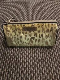 cheetah print large makeup bag